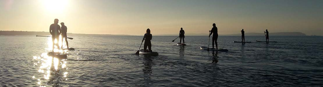 Paddle boarding at Hurst Castle