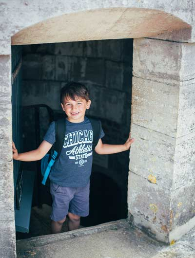 Boy at Hurst Castle
